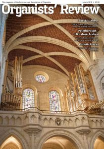 March 2018 - Organists' Review